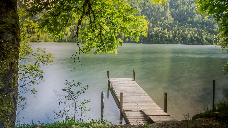 Baden und schwimmen im Lunzer See