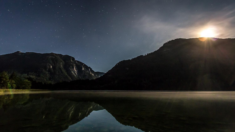 Der Lunzer See bei Nacht - Sternenklar
